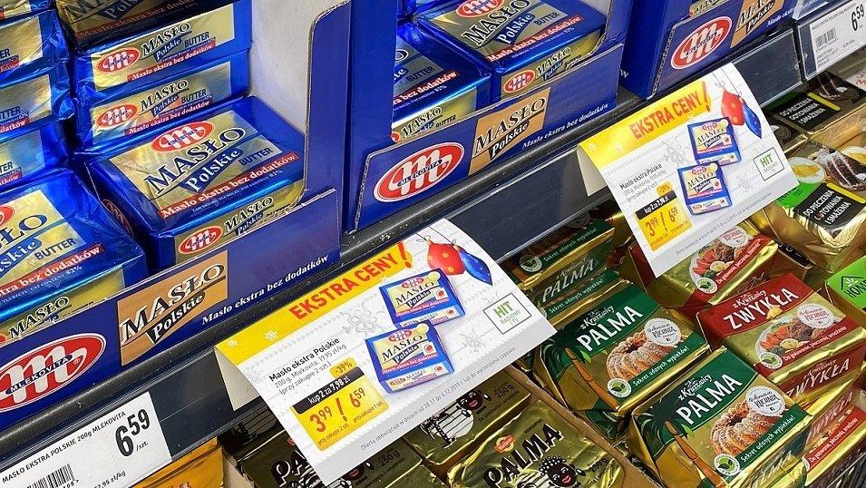 Sklepy kuszą Polaków głównie masłem 200g. W ciągu roku przybyło blisko 40% promocji